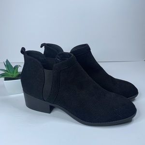 NWOT CityClassified Black Sued Ankle Boots